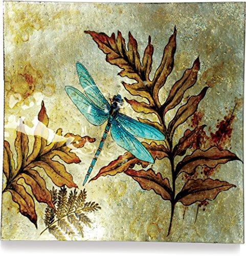 "AngelStar 19164 Dragonfly Spirit Square Plate, 11"""