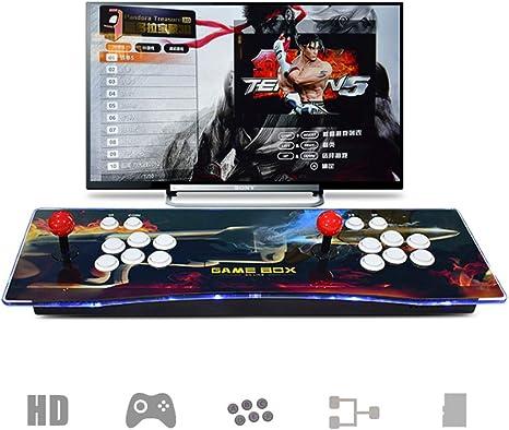 2270 Juegos clásicos Consola de Videojuegos, Multijugador Arcade Game Console, 2 Joystick Partes de la Fuente de alimentación HDMI y VGA y Salida USB, Compatible con PS3,PC, TV Video Game Kit: Amazon.es: