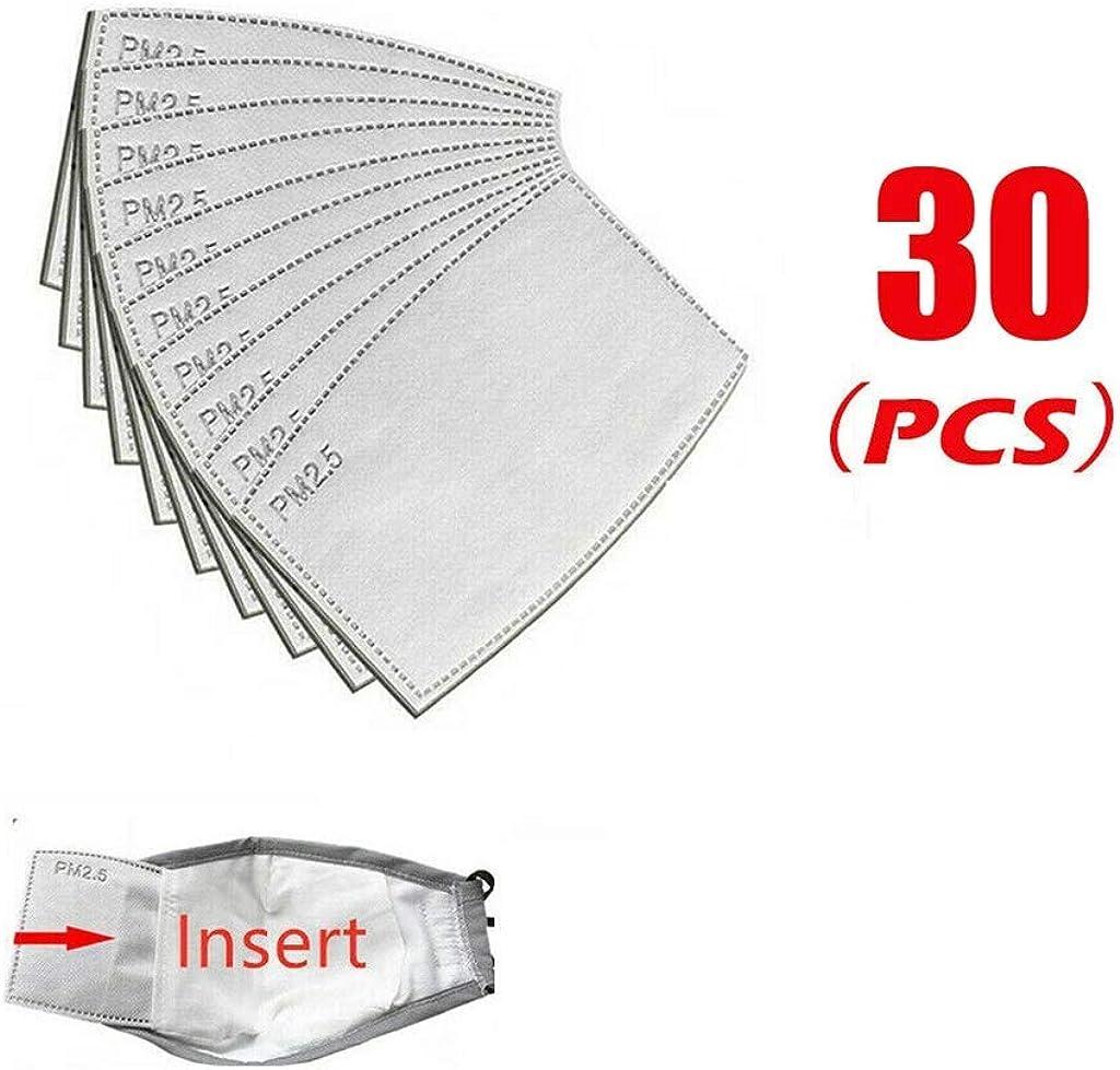 WiHoo 10-100pcs PM2.5 Einweg Filter Atemschutz Aktivkohlefilter Gesichts Atemeinsatz Mundschutz