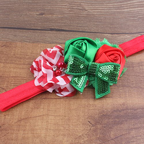 Christmas Headband For Baby Girl.Miugle Baby Girls Christmas Headbands With Bows