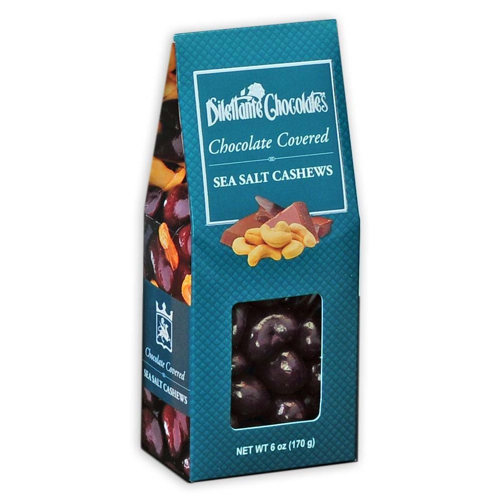 Milk Chocolate Covered Cashews - 6 oz Gift Box - by Dilettante (4 Pack)