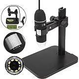 JZHY 1000x Microscopio microscopio ¨®ptico USB 8 LED-endoscopio Digital con el soporte (con el cable OTG para el tel¨¦fono Android)