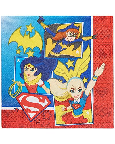 American Greetings DC Super Hero Girls Lunch Napkins (16 Count) -
