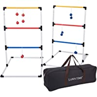 LAWN TIME Ladder Ball Set - Ladder Ball Game - Ladder Toss Game with 6 Bolos and Carrying Bag