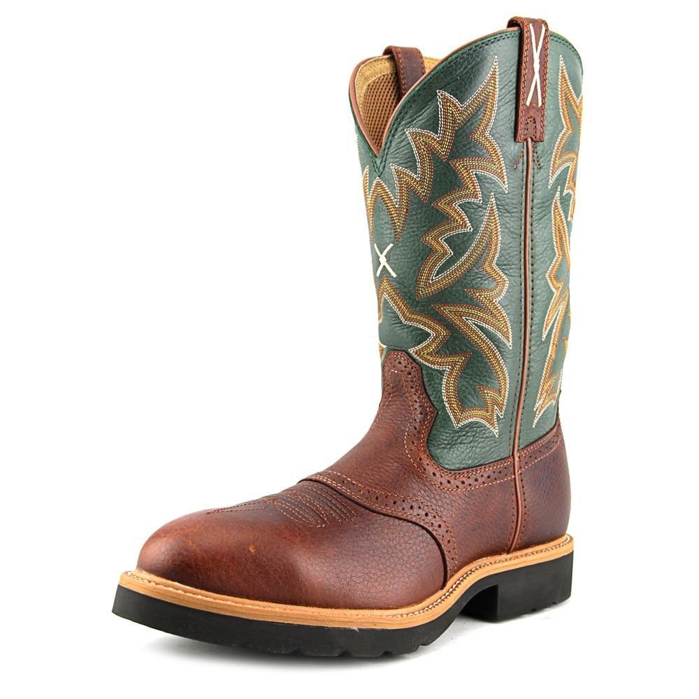 Twisted X Men's Saddle Vamp Pull-On Work Boot Steel Toe Cognac 10.5 D(M) US