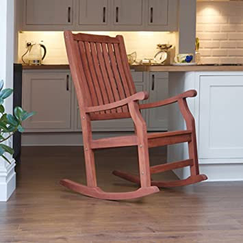 free shipping 35c1f 5df18 Trueshopping Wellwood Large Rocking Chair Classic Design FSC Hardwood - For  Kitchen, Patio or Veranda
