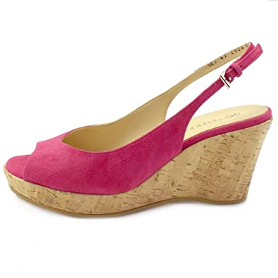 d007f8e6c3f051 Peter Kaiser Bobby Wedge Sandals in Pink Suede PINK SUEDE 8  Amazon ...