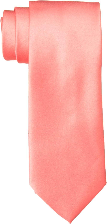 TieMart Boys Coral Pink Skinny Suspenders