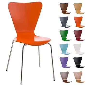 clp chaise empilable calisto en bois chaise de visiteur assise ergonomique chaise de salle - Chaise Empilable