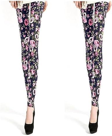 Mujer Leggings, 2 pack, 95% algodón Marine/Rose 56 : Amazon.es ...