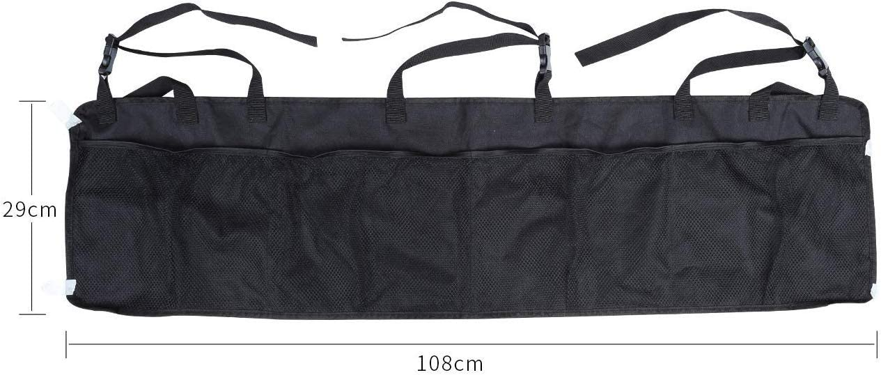 Black LIHAO Car Trunk Backseat Organizer Foldable Hanging Grocery Storage Container 600D Oxford Cloth Adjustable Straps for SUV//MPV//CAN Universal