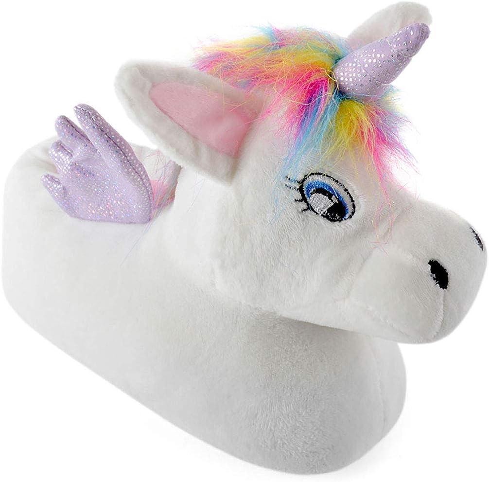 laylawson Girls 3D Unicorn Slipper