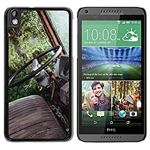 Unique Designed Cover Case For HTC Desire 816 With Mo Old Car Forest Vintage Nature Carl Kadysz Phone Case
