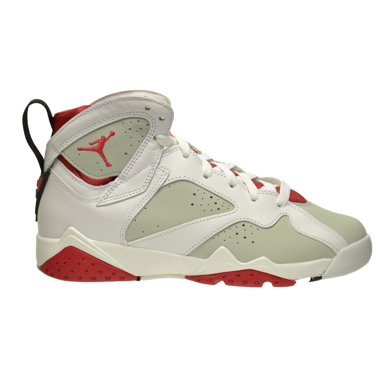 a55ed5a309209 Jordan Air 7 Retro Hare BG Big Kids Shoes White/True Red-Light Silver-True  Melon 304774-125 (7 M US)