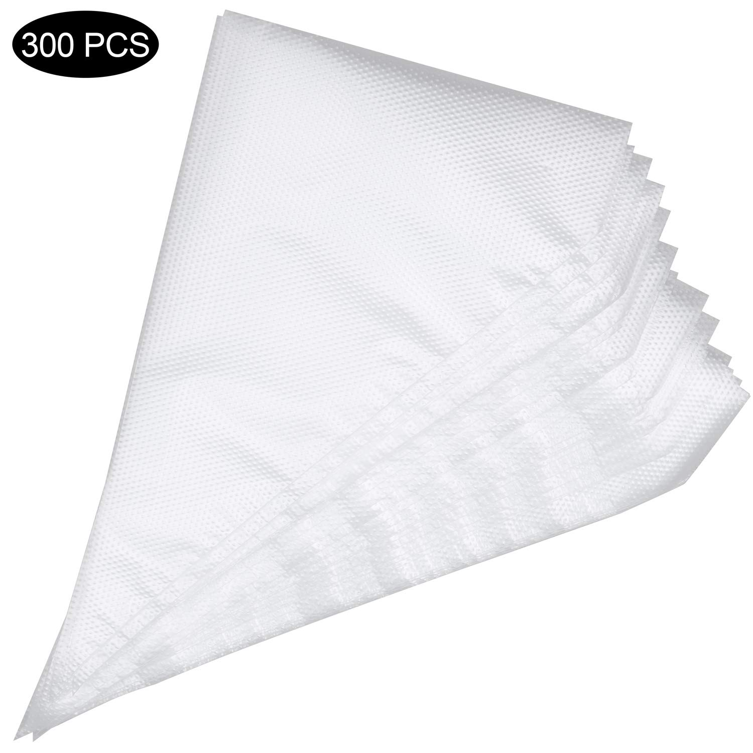 300 Pieces Disposable Pastry Piping Bags, 13 inch Disposable Cake Decorating Bag Cupcake Icing Bags for Baking Cupcakes Cookies Candy Decorating Supplies Tool
