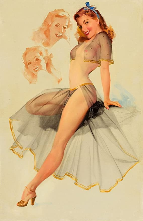 Alberto Vargas pin up art :  Vintage magazine artwork Poster reproduction. 13