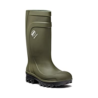 Dickies Safety Wellington Boot Thermolite, verde, tamaño 8
