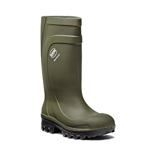 Bekina ThermoLite Polyurethane (PU) Safety Wellington Boots - Green - Size  6 UK