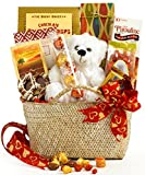Broadway Basketeers Valentine's Day Gourmet Gift Basket – Assortment Includes Lindt Truffles, Caramel Popcorn, Ghirardelli Squares, Teddy Bear & Lots of Love