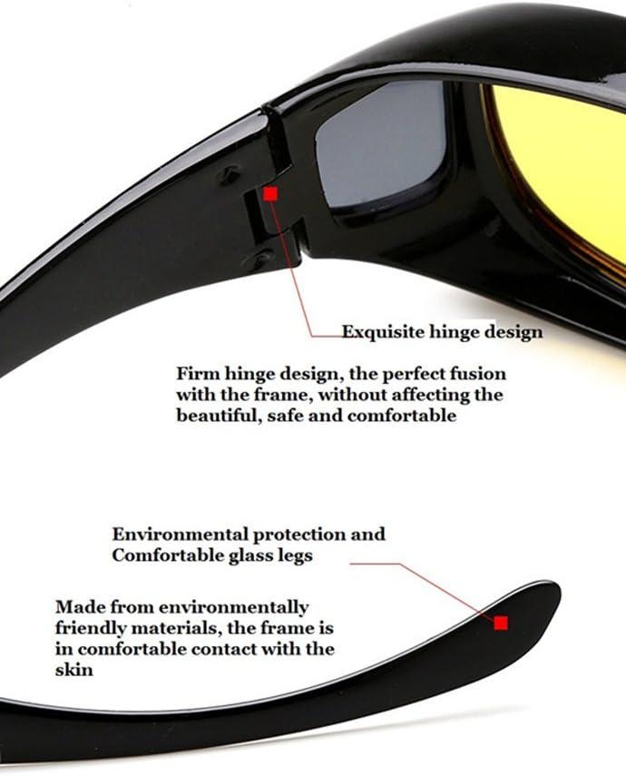 Baselay HD Night View Driving Glasses Polarized UV400 Anti-Glare Rain Day Night Vision Cycling Nighttime//Day Safty Sunglasses for Men Women