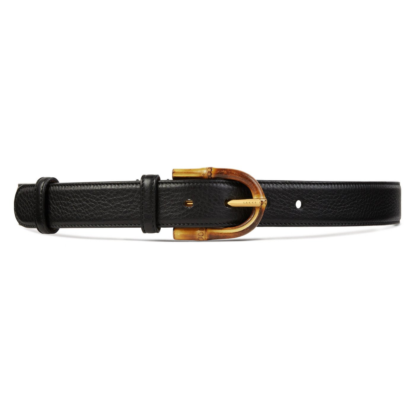 Gucci Women's Bamboo Buckle Black Leather Belt, 40, Black by Gucci (Image #4)