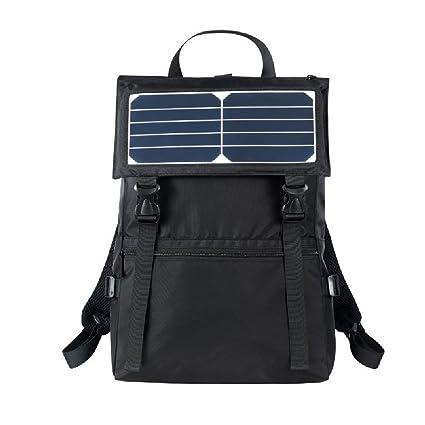 GDSZ Mochila con Energía Solar Informal para Hombres 30L Mochila con Cargador USB De Moda Mochila