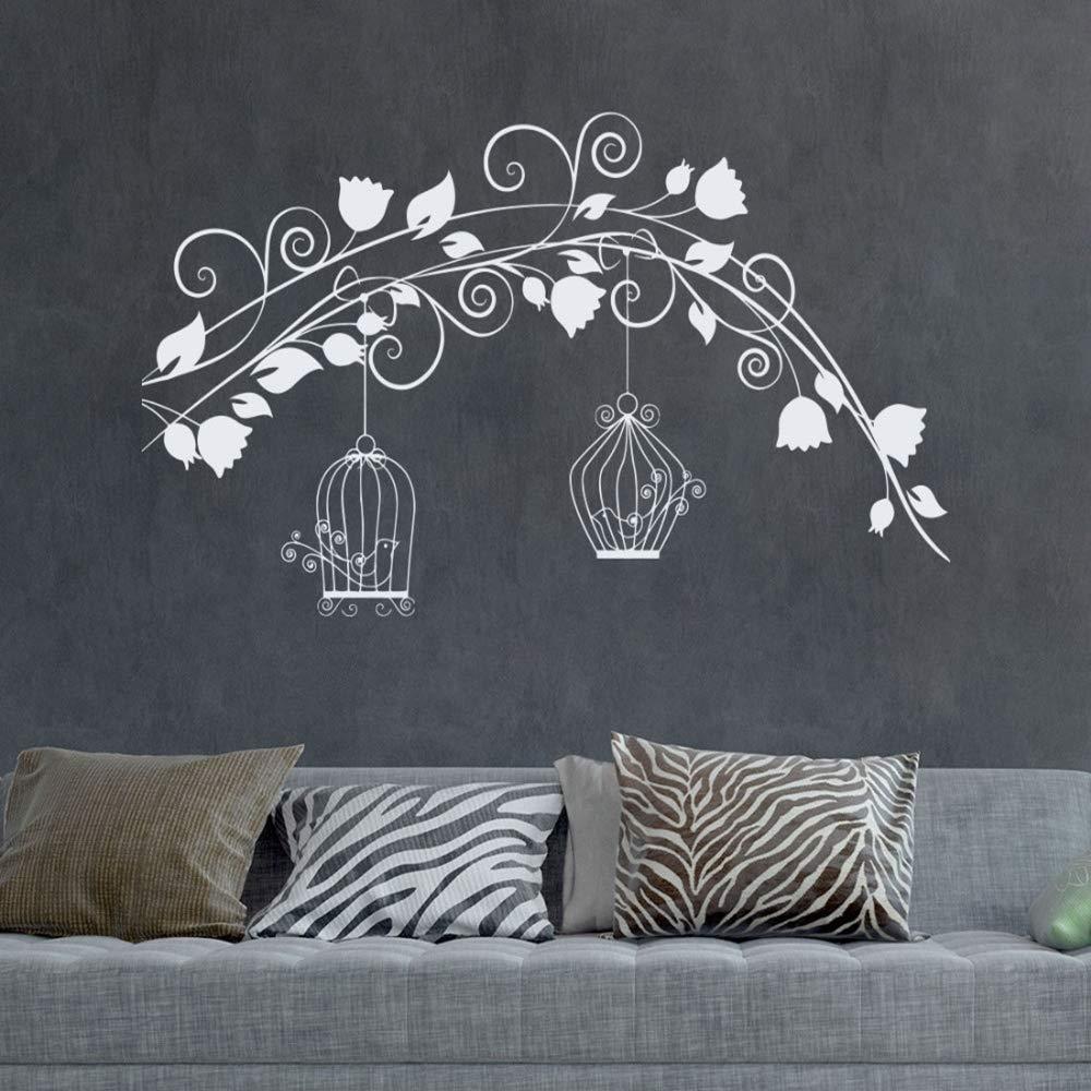 Lo nuevo Creativo Jaula de pájaros Pegatinas de pared Árbol Rama y ...