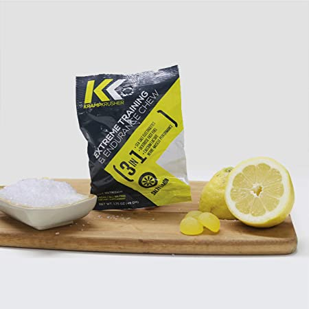 Pre Workout Kramp Krusher, Energy Gummies, Pack of 12 Training and Endurance Enhancer, with Electrolytes, Calcium Lactate for Optimal Performance While Training Lemon, 12 Pack