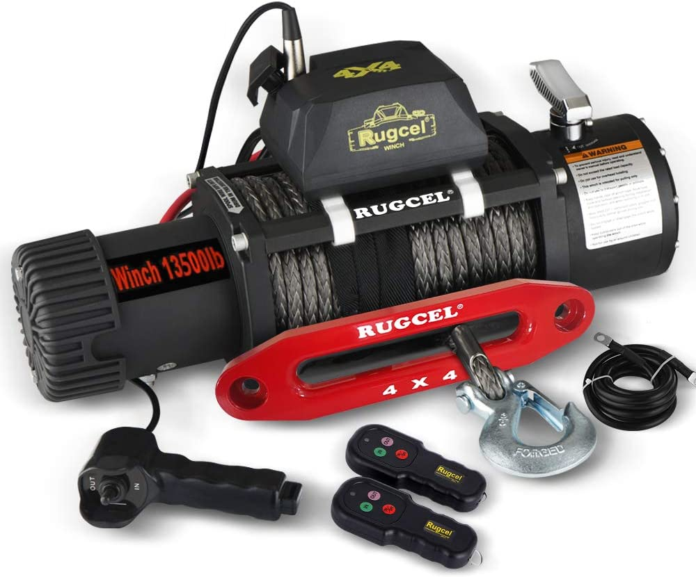 RUGCEL Waterproof Synthetic Rope Winch