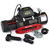 RUGCEL Winch Waterproof Synthetic Rope Winch - 13500 lb. Load Capacity
