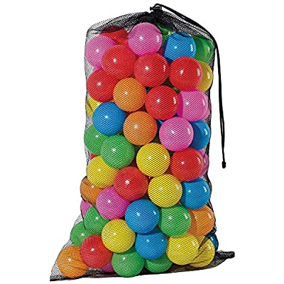 Franklin Sports Ball Pit Balls 100 pack - BPA Free, Phthalate Free, Non-PVC Plastic - 6 Colors Included With A Reusable Mesh Drawstring Bag: Toys & Games
