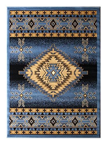 Bellagio Southwest Native American Area Rug Design 357 Blue (5 Feet 2 Inch x 7 Feet 3 Inch) by Bellagio