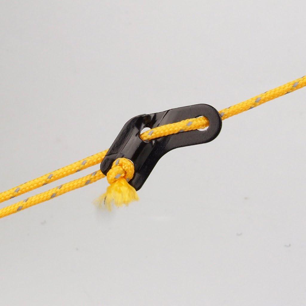 G/én/érique Lot de 10pcs Fixation de Corde Tendeur de Hauban L-Forme en Alliage dAluminium pour Tente