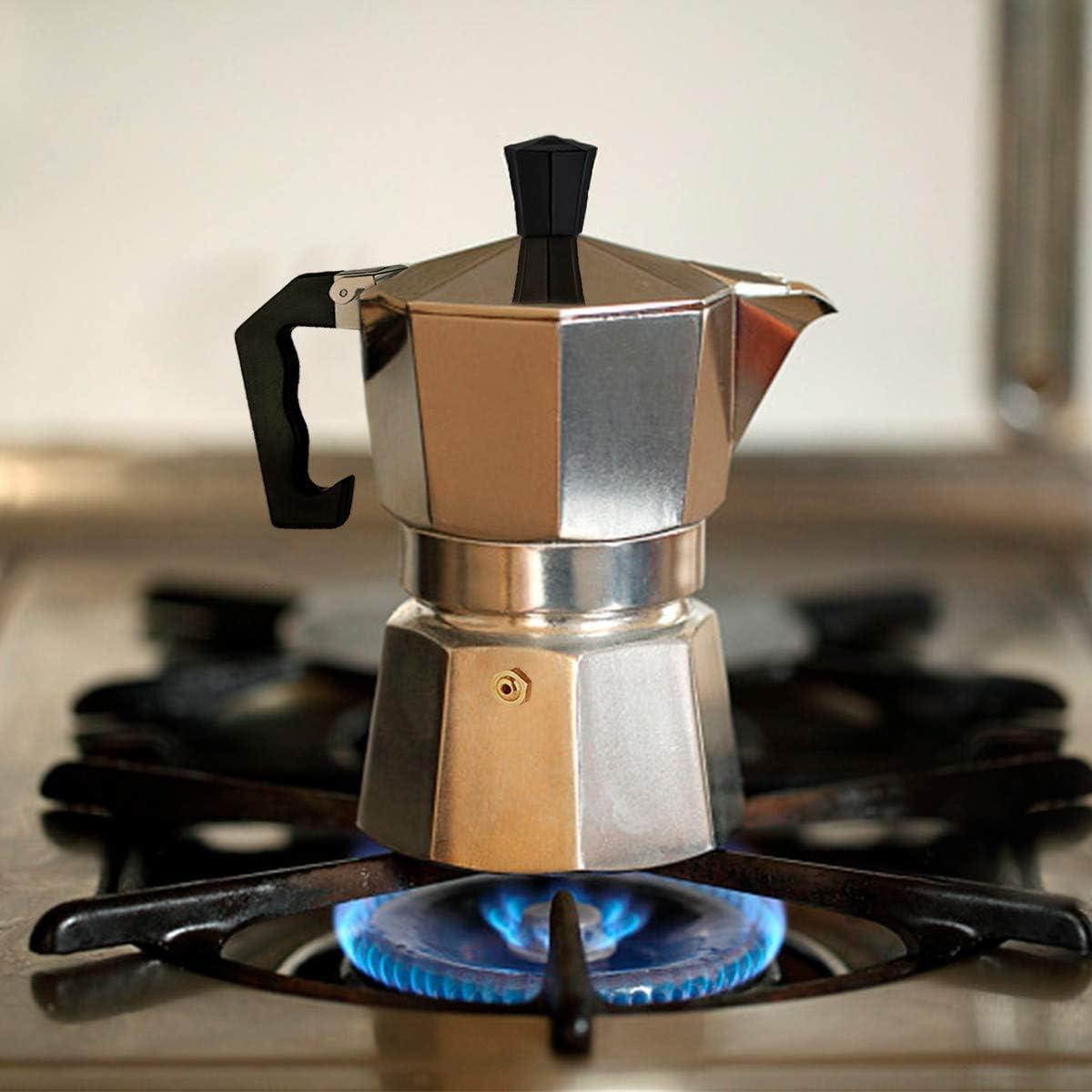 Cafetera Italiana de Aluminio, Capacidad para 6 Tazas: Amazon.es: Hogar