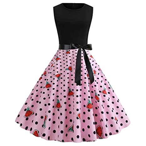 Zzz Damen Retro Kleid, Cocktailkleid, klassisch, Vintage