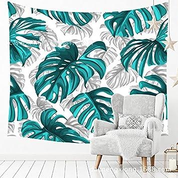WandArtunique Tapiz de Pared Lona Tela Fondo Toalla Playa Habitación con piña Tropical para habitación Habitación con Paredes de 150x130 cm (59.1 Pulgadas x ...