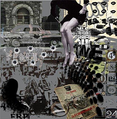 TAF DECOR ''Leap of Faith 2'' Deco Glass, 19'' X 19'' X 1'', Multicolored by TAF DECOR