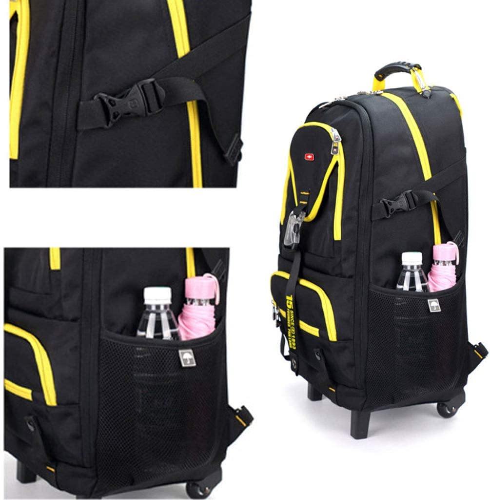 Business Roller Trolley Bag Men and Women Travel Flight Approved Carrying Bag Travel Luggage Bag Color : Yellow, Size : M