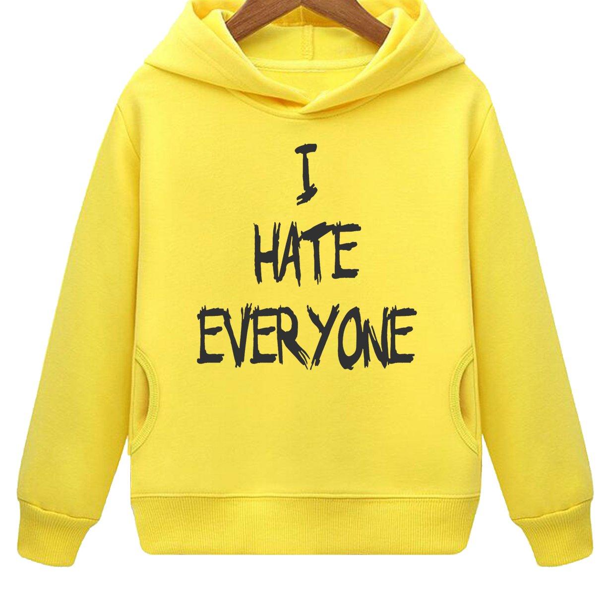 Kids I Hate Everyone Hoodie with Side Pockets (Y,L)