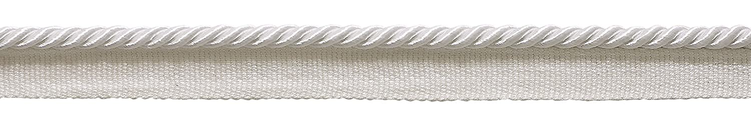 .5cm 12 Yard Value Pack of 3//16 Style# 0316S Color: WHITE White Basic Trim Lip Cord 36 Ft // 11M A1