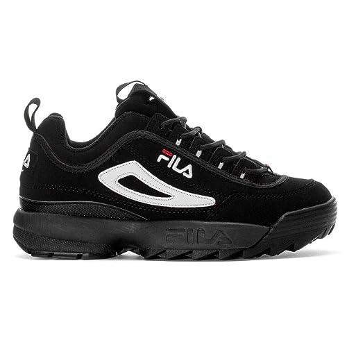 Fila Hombre 101049012V Negro Gamuza Zapatillas: Amazon.es: Zapatos y complementos