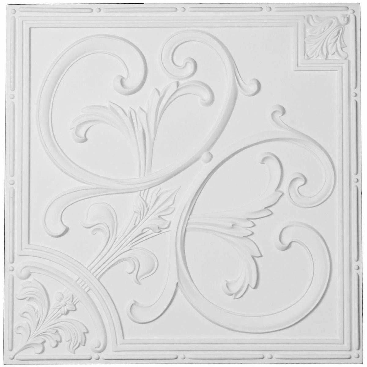 Ekena Millwork CT24X24OD-CASE-4 Ceiling Tile Factory Prime