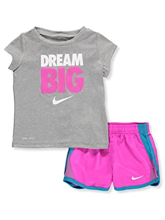 Nike Baby Girl Clothes Inspiration Amazon NIKE Baby Girls' DriFit 60Piece Outfit Hyper Magenta