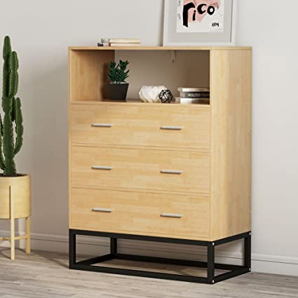 Chests Of Drawers, LITTLE TREE Tall Accent Chest With Open Storage, Works  As File