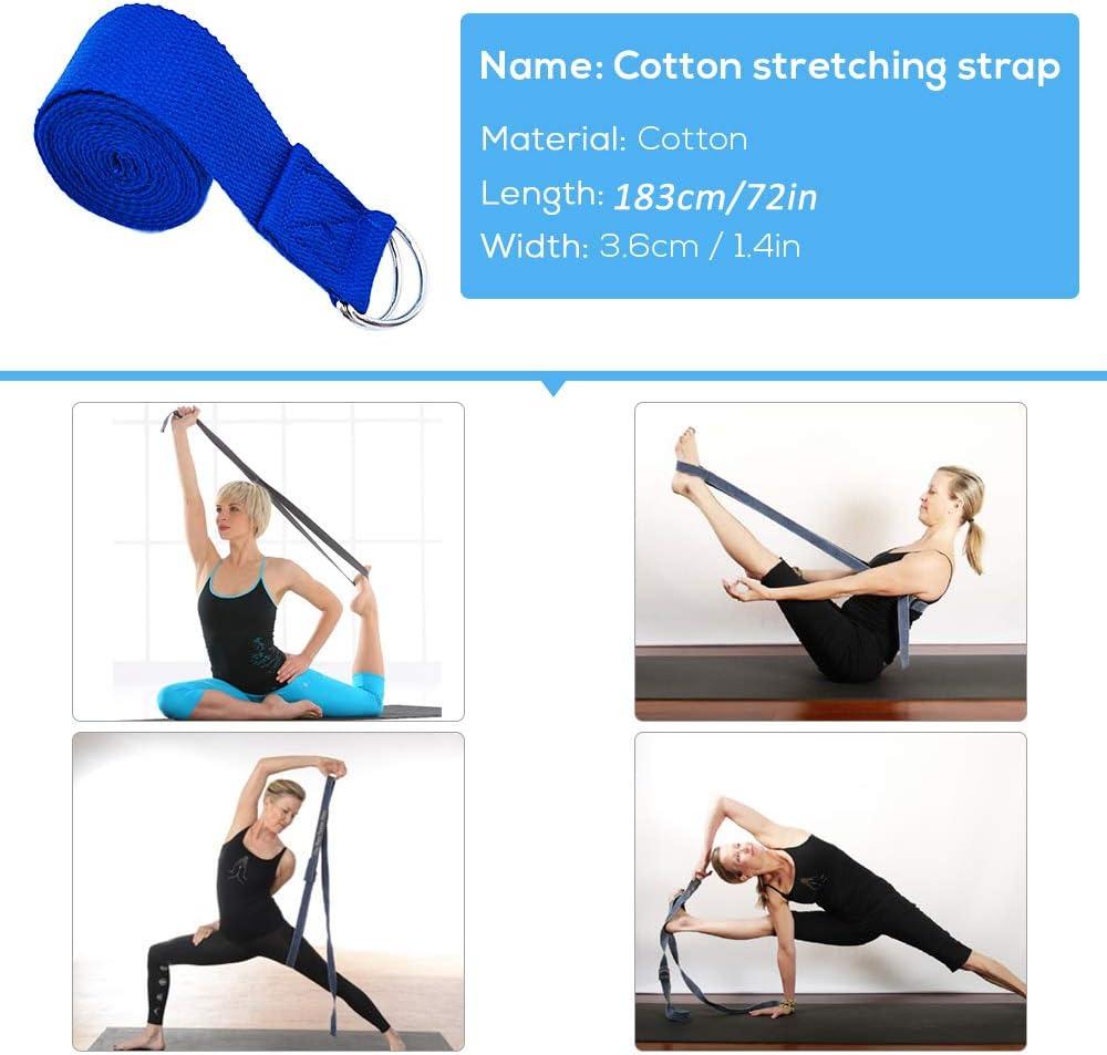OSJDFD Bloque de Yoga port/átil de 21 6 cm ladrillo de Entrenamiento f/ísico 14 Aumenta la flexibilidad y Mejora la flexi/ón de la Espalda