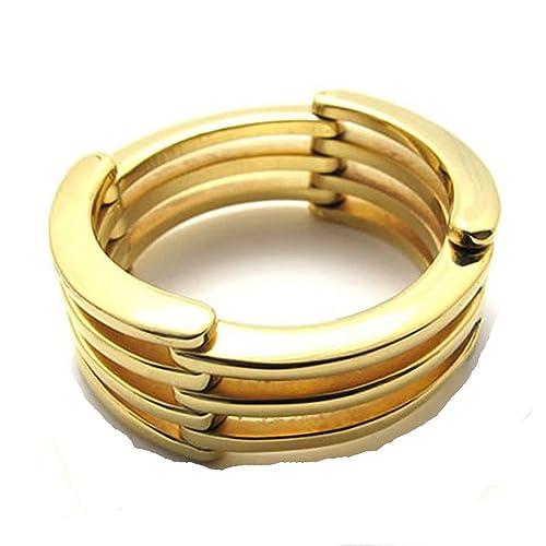 Amazon.com: jajafook joyas anillo de compromiso boda Fold ...