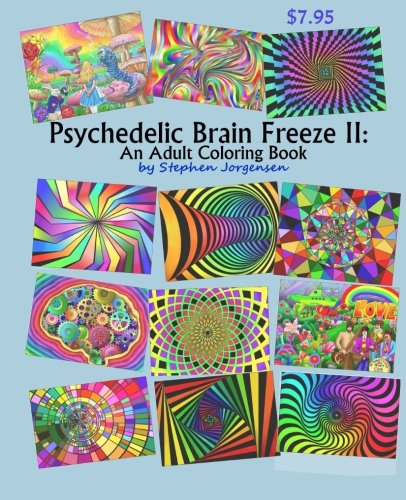 Psychedelic Brain Freeze II Coloring product image
