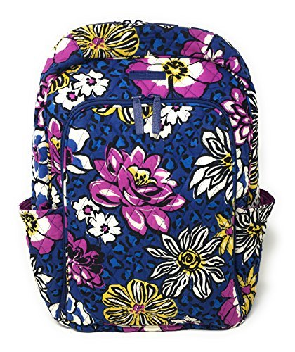 Vera Bradley Laptop Backpack (Updated Version) with Solid Color Interiors (African Violet with Purple Interiors)
