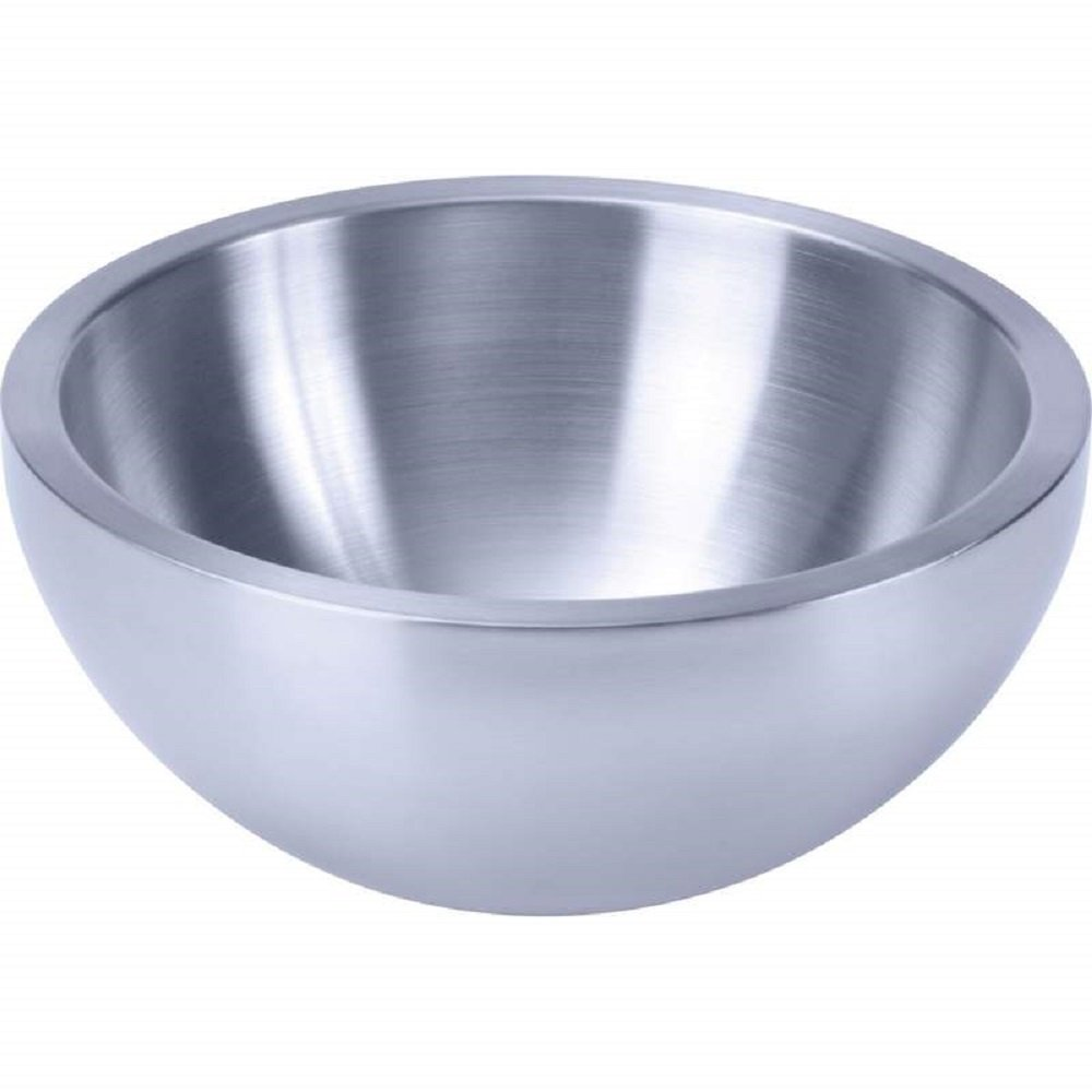 Chef's Secret® 9-1/2'' Double-Walled Stainless Steel Salad Bowl