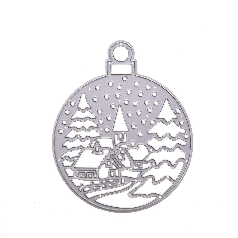 SUPVOX Metallo Taglio Muore Stencil Modello Creativo Stampi per Album DIY Scrapbooking Creazione di Carte Artigianali di Carta (Natale)